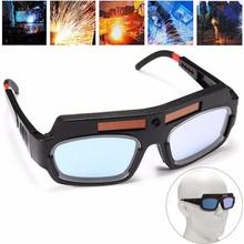 2x Solar Powered Auto Darkening Welding Mask Protective Goggles Safety Glasses Helmet Goggle Welding Glasses Lightproof head mounted welding helmet black against ultraviolet ray protective mask pc safety headgear face shield mask glasses