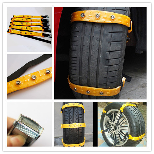 ФОТО Newest 10pcs/Set S/M/L Universal Car Snow Chains Thickened beef tendon Simple installation styling Best quality Free shipping