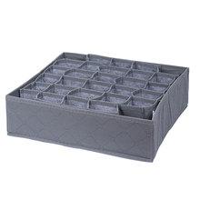 Organizatorzy szuflady składane pudełko do przechowywania es bielizna skarpetki biustonosz bielizna krawaty pudełko do przechowywania przegroda szuflady szafy pudełka Dropshipping tanie tanio Włókniny tkaniny 34*32*10cm