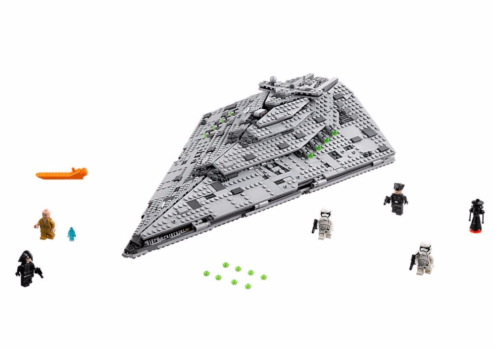 Здесь продается  05131 1585Pcs Star Plan Series The First order Star Model Destroyer Set  Building Blocks Bricks Educational Toys Gift  Игрушки и Хобби