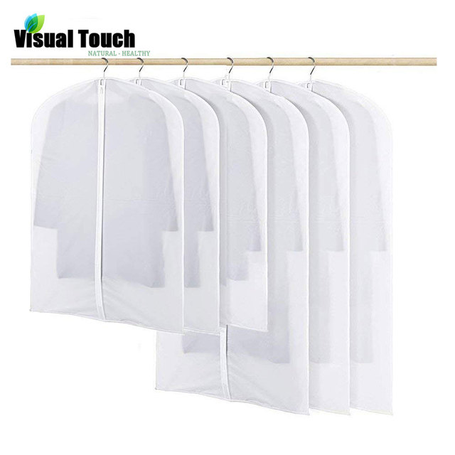 Garment Bag Clear Dust Proof Cover Protector Covers Full Zipper Dustproof Closet Bags For