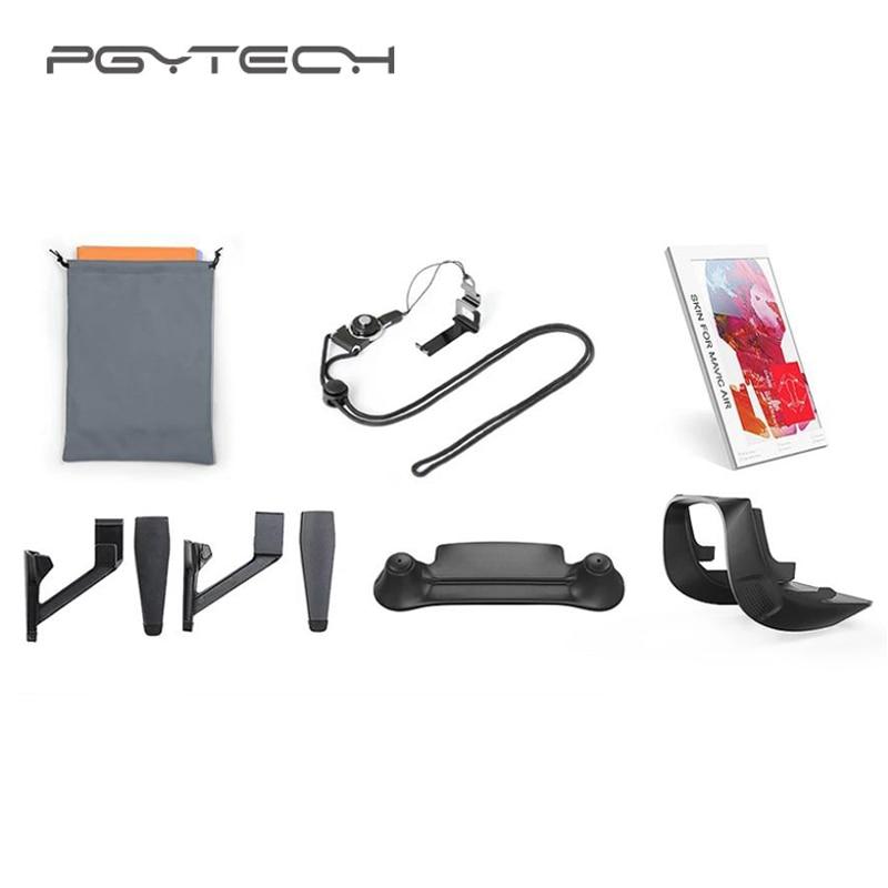 PGYTECH Landing Gear Extensions Landing Pad Lens Hood Remote Controller Clasp Skin 5 In 1 Accessories Combo for MAVIC AIR pgytech 1 set landing pad 75 cm
