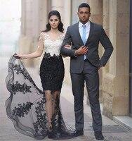 2019 дизайнерское Бисероплетение, вечернее платье Русалочки, Черное и белое платье с длинными рукавами, вечернее платье