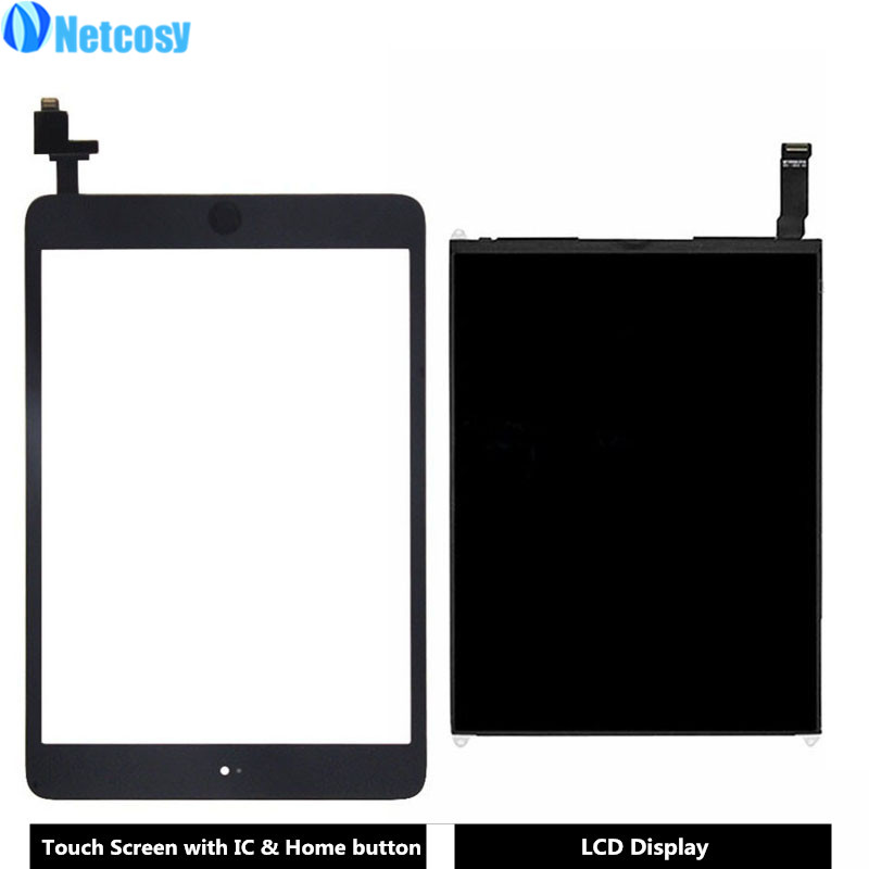 Netcosy For ipad mini 1 A1432 A1454 A1455 Touch Screen Digitizer panel & LCD Display Screen repair parts For ipad mini 1