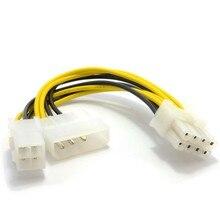4 Pin ATX & 4 Pin LP4 Molex zu 8 Pin EPS Power Adapter Kabel