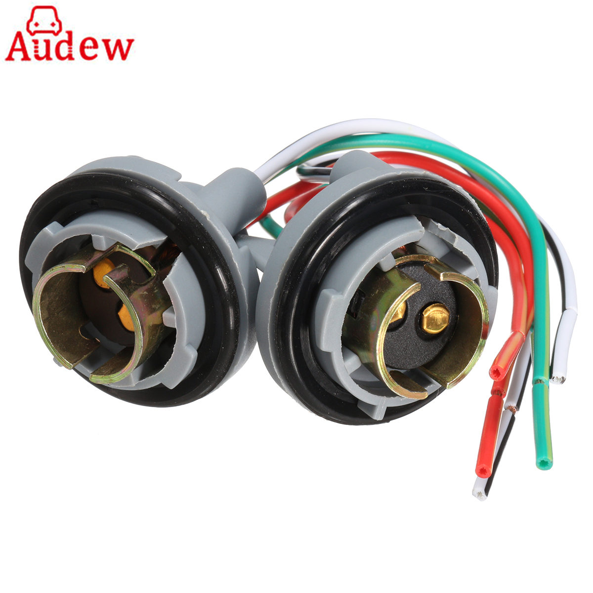Hot Sale 2pcs Turn Light Brake Led Bulb Sockets Connector Wire Wiring Harness Alligator Fence For 1157 Bay15d Base