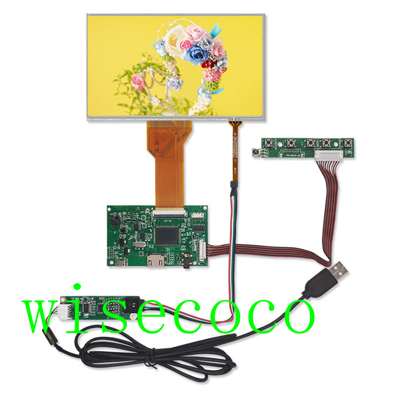 7 inch 800*480 Screen Display LCD AT070TN94 TFT Monitor touch screen Remote Driver Control Board HDMI for Orange Raspberry Pi 3