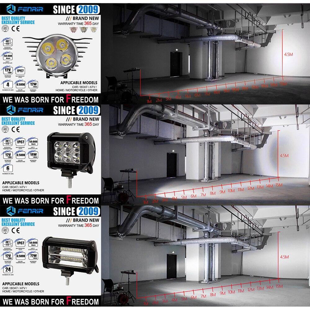 פורד בר אור LED עבודה קלה עבור פולקסווגן נשר דודג קדילאק שברולט ביואיק קרייזלר פורד טויוטה סובארו מאזדה מיצובישי לקסוס ניסן (5)