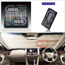 Liislee Special Car HUD Safe Drive Display For Nissan Patrol Armada Y62 Refkecting Windshield Head Up Screen Projector