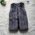 CP Brand Long Fur Vest Women Luxury Faux Fox Fur Vest Furry Slim Womens Winter Fake Fur Vest Plus Size Faux Fur High Quality
