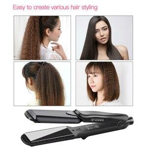 Image 4 - Interchangeable 4 en 1 rapide défriser les cheveux maïs vague plaque électrique pince à cheveux grand à petit onduleur ondulé plat fer 42