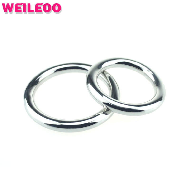 3 Size Steel Round Delay Cock Ring Penis Ring Cockring Ball Stretcher Adult Sex Toys For Men Sex Toys For Couples 030-In Penis Rings From Beauty -2666