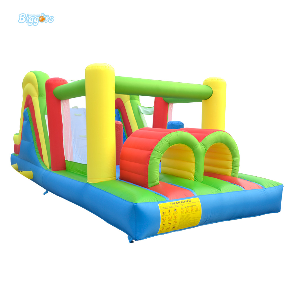 Bounce House Inflatable Trampoline Bounce Jumping Castle with Obstacle for Residential Use Outdoor playing Birthday Party