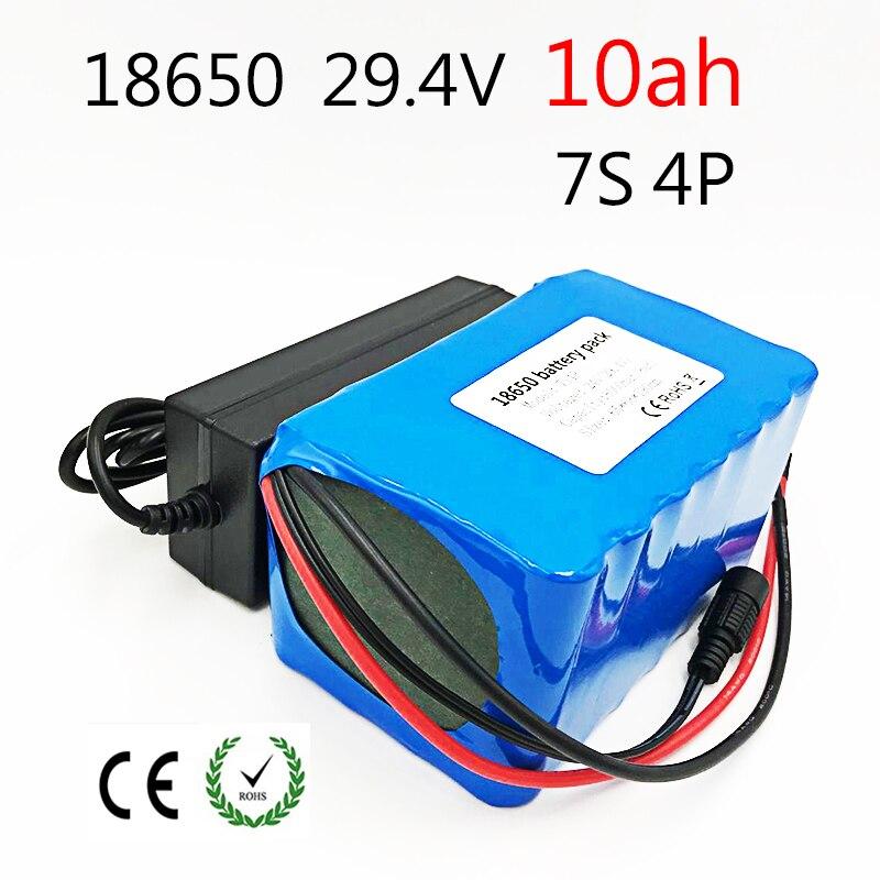 24 В 10ah литиевый аккумулятор 29,4 в 10ah 25A BMS 250 Вт 350 Вт 500 Вт Аккумулятор для инвалидной коляски комплект электродвигателей электрическая мощнос