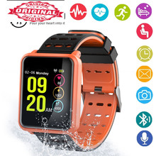 Купить с кэшбэком Color Smart men Watch Waterproof Smart bracelet Blood Pressure Smart Wristband Fitness Tracker Smart tracker PK amzfit mi band