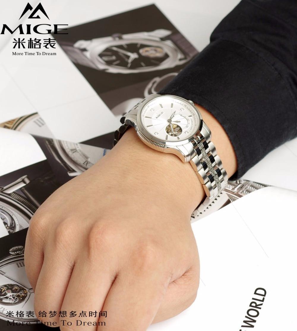 2018 Mige New Hot Tourbillon Szkielet Mechenical Mans Watch podczas - Męskie zegarki - Zdjęcie 5