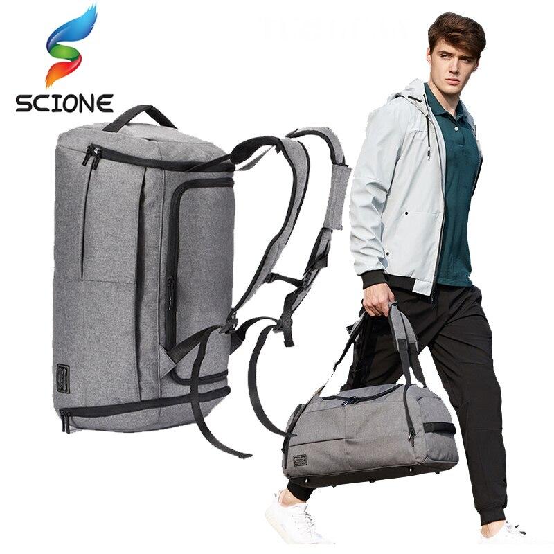 Hot Men Multi function Sports Gym Bag Large Capacity Travel Handbag Male Outdoor Basketball Training Crossbody