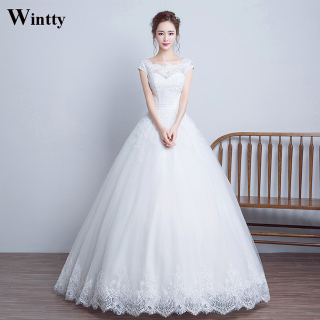 Wintty White China Sexy Wedding Dresses Plus Size 2017 With Sleeves