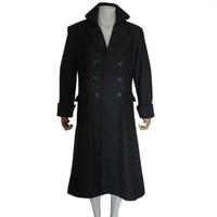 2019 Sherlock Holmes Men Winter Long Trench Cape Coat For Men Movie TV Show Halloween Cosplay Costume Wool Versio