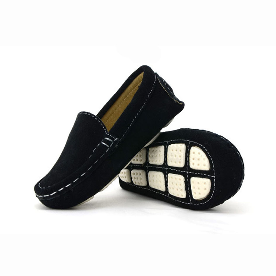 luxury genuine suede leather toddlers loafers slip on baby