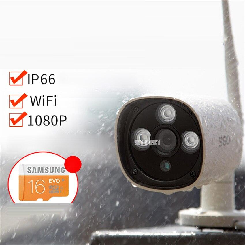 360 IP Webcams extérieure 1080 P HD Infrarouge Amélioré vision nocturne Professionnel Poussière Étanche WiFi À Distance Surveillance Webcam