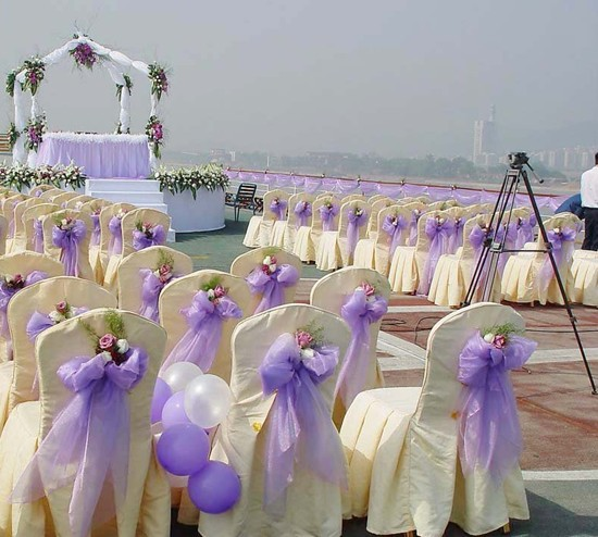 Light Purple Organza For Background Of Wedding Decorations 15 M