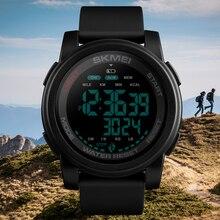 Top Brand SKMEI Men Digital Watch Calorie Pedometer Countdown Sport Wristwatches Waterproof Man Military Bracelet Alarm Clock