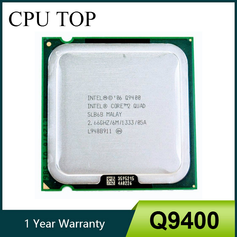 Процессор Core 2 Quad Q9400 SLB6B, 2,66 ГГц, 6 Мб, 1333 МГц, Socket 775, 100% рабочий