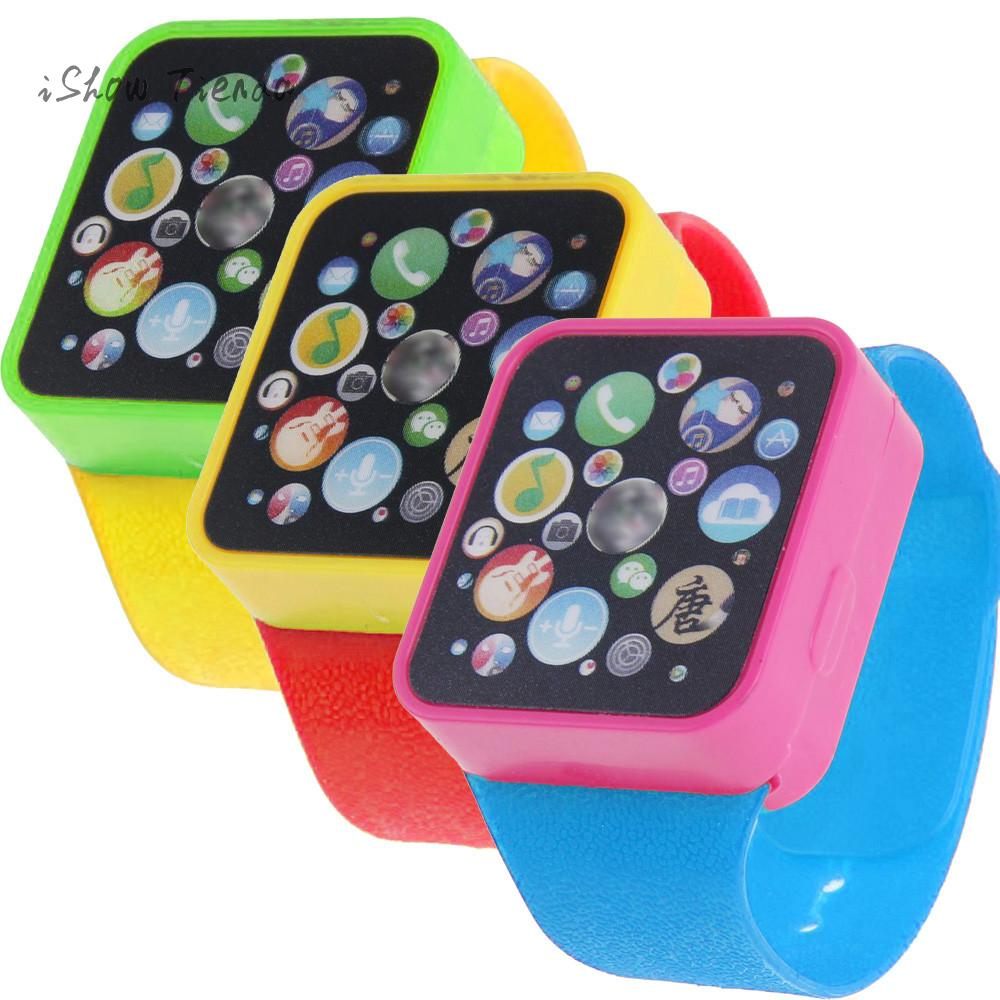 ISHOWTIENDA fun squishes Kids anti stress toys Educational Smart Wrist Watch Learning Touching Screen Games Music squeeze toys