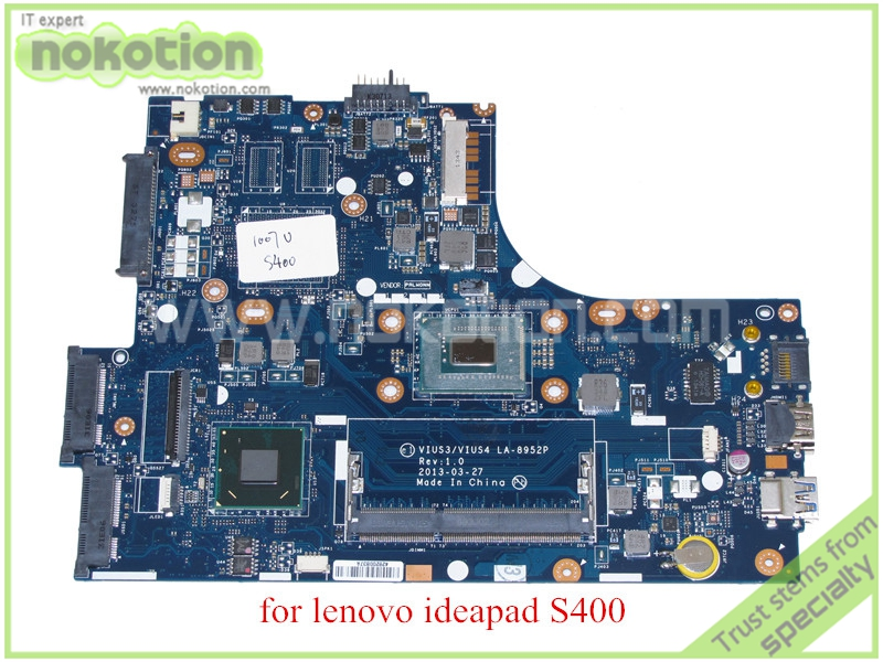 VIUS3 VIUS4 LA-8952P for lenovo ideapad S400t Laptop motherboard HD4000 DDR3 SR109 1007U CPU la 5972p for lenovo ideapad g555 laptop motherboard ddr2 free shipping 100% test ok