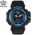 SMAEL Digital Analog Wristwatch Men Women Quartz Watches LED Electronic Day Dive Navy Army S-Shock Sport Watch Relogio Masculino