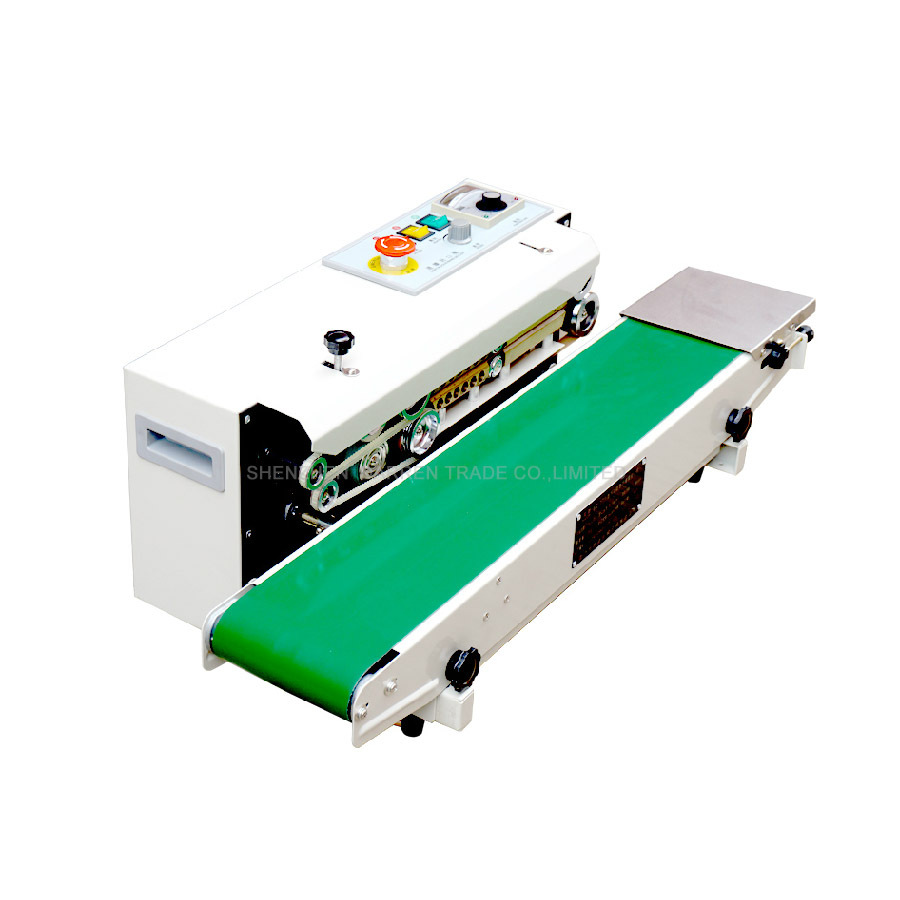Continuous Film Sealing Machine Plastic Bag Package Machine Band Sealer Horizontal Heating Sealing Packing Machine FR-770 frd 1000 ii ink colored printing sealing machine continuous sealing machine automatic film sealing machine