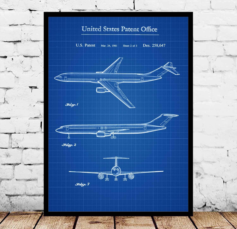 Постеры с чертежами самолетов