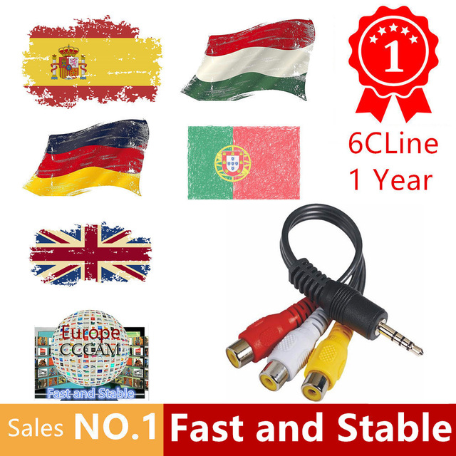 цена на 1 Year Europe Cccams Clines Server For Spain Portugal Germany Poland Italy support DVB-S2 Receptor Satelite TV Receiver