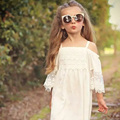 2017 summer baby girl dress girls clothing print girl dress lace kids clothes children princess dress vestido for girl