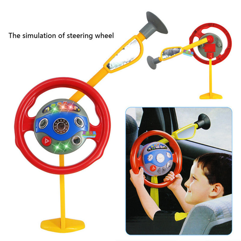 Educational Toys For Children Children Electronic Backseat Driver Car Seat Steering Wheel Toy Game Light Sound 40LY18
