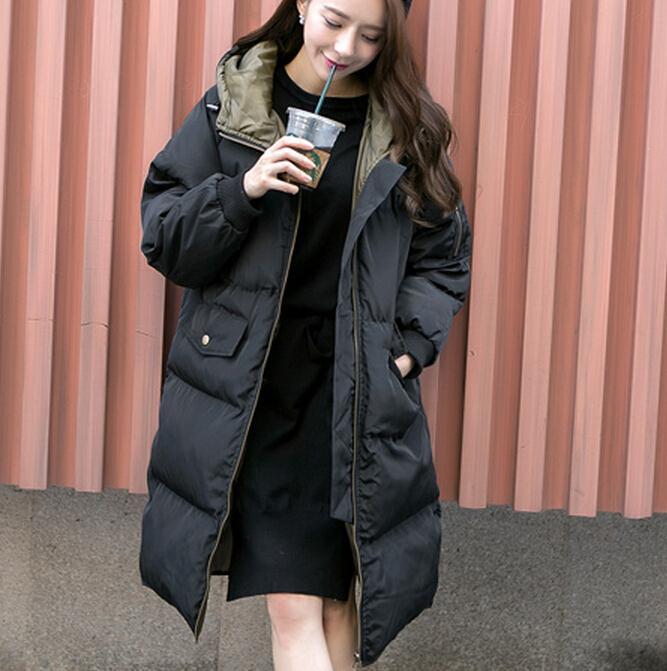 ФОТО New 2017 Winter Women Wadded Jacket Female Outerwear long Casual warm Down Cotton Wadded Coat Women Parkas F2810