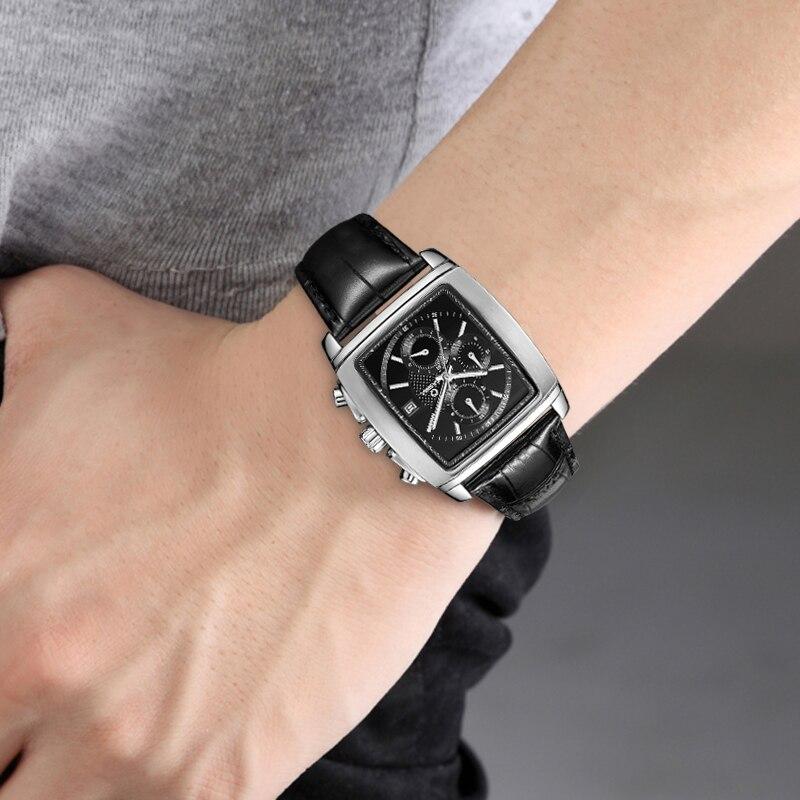 Lüks marka saatlar kişilərin moda biznes geyimləri klassik mens - Kişi saatları - Fotoqrafiya 6
