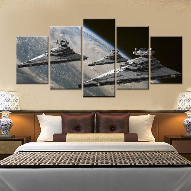 5 Panele Movie Poster Star Wars Star Destroyer Modern Home Dekoracje