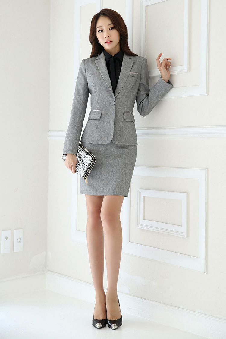 IZICFLY Spring Black Blazer Feminino Female Uniform Business Suits with Trouser Elegant Slim Office Suits for Women Clothing 4XL 62