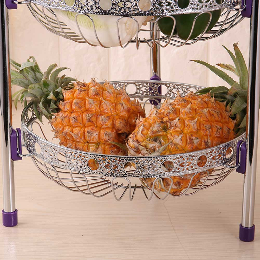 3 Tiers Stainless Steel Fruit Storage Basket Rack Tray for Vegetable Bowl Lemon Multi function Kitchen Rack Holder Tool in Storage Holders Racks from Home Garden