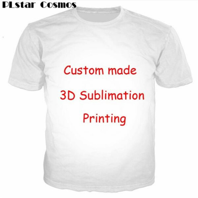 Accept 1pcs Customer Design Settings T-Shirt Women Mens Couple tshirt 3D  Print Create your own Sublimation Print T-Shirts S-5XL e1e1d076b