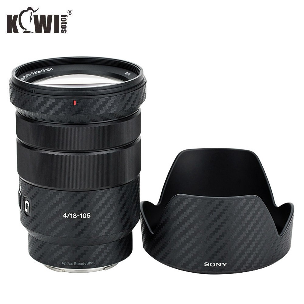 KIWIFOTOS KS-SELP18105GCF Carbon Fiber Film  For Sony E PZ 18-105mm F/4 G OSS Lens Camera Decoration Lens Protection