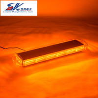 SK C403 6 140W 30'' Super power Strobe flash led COB warning DRL Police Fireman Caution pilot Light with amber red white blue