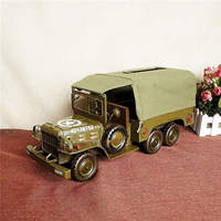 Tin liberation army model model toy military vehicle model smoke carton household furnishings Christmas