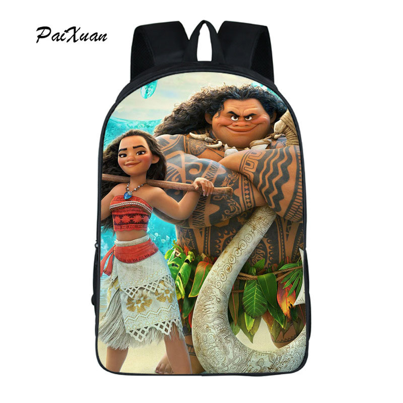 Paixuan Moana Anime Movie Backpack Shoulder Bags Students Children Backpack School Bags Laptop Backpack Fashoin Leisure Bag Pack