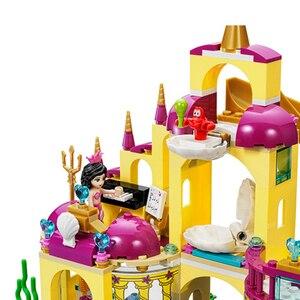 Image 3 - Новое поступление Принцесса Ариэль дворец моря Русалка Compatibie Legoings Строительные блоки Набор игрушек DIY образовательные подарки