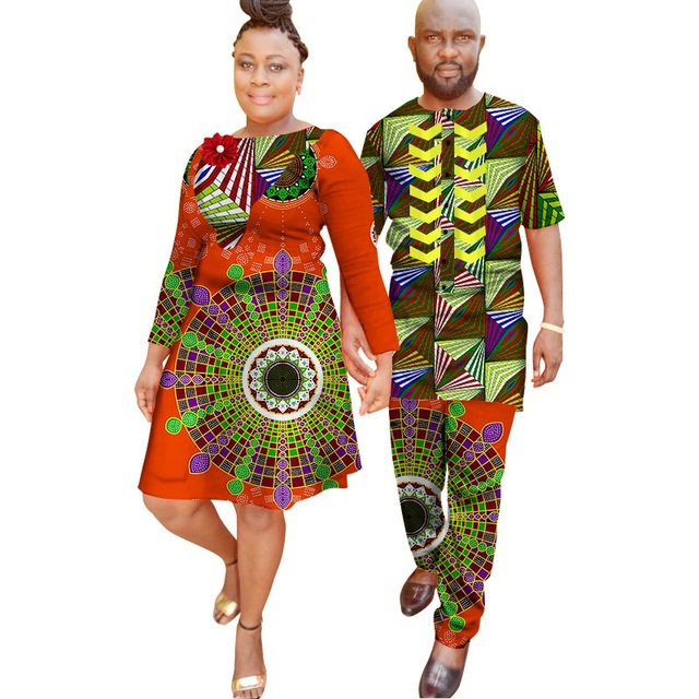 483dfb37b African Traditional Dresses Sale Promotion Women 2018 Cotton Multiply  Colors African Couples Suit Wax Printing (women+men)