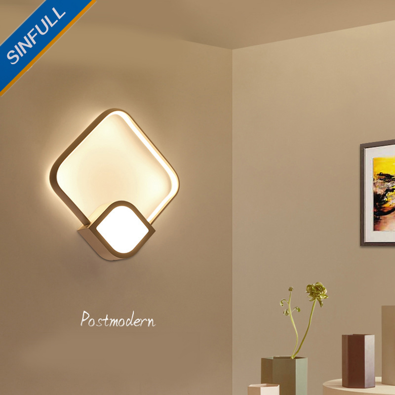 Modern Simple Led Wall Light Bedroom Creative Wall Lamp Nordic Personality Staircase Sconce Aisle Corridor Living Room Lighting small size josephine wall lamp modern design wall light living room lobby bedroom aisle corridor lighting wall sconce lamp