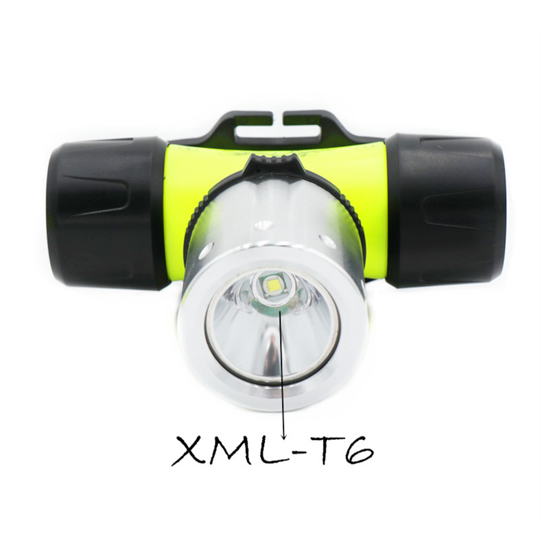 Image 2 - Waterproof xmL T6 diving swimming led Headlamp underwater headlight fishing lamp Use 18650 Battery LED Flashlight-in Headlamps from Lights & Lighting